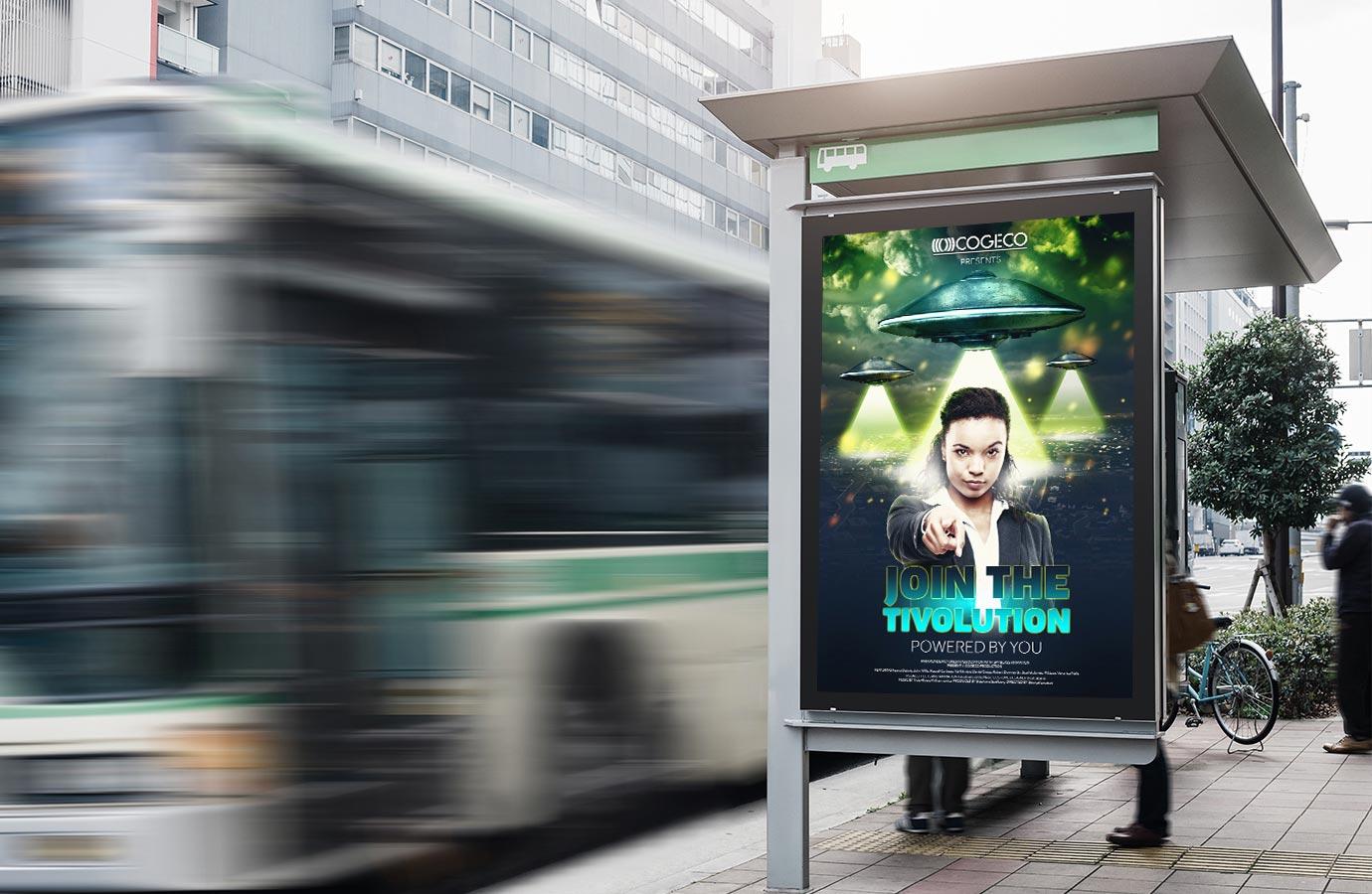 campagne publicitaire affichage pour Cogeco Tivo