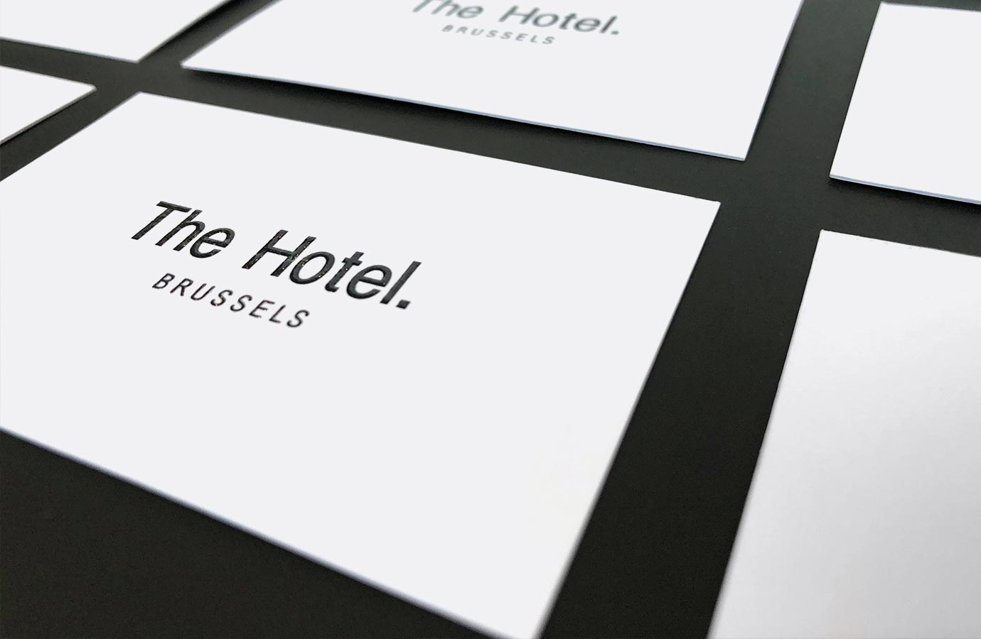 Identité, cartes d'affaires The Hotel