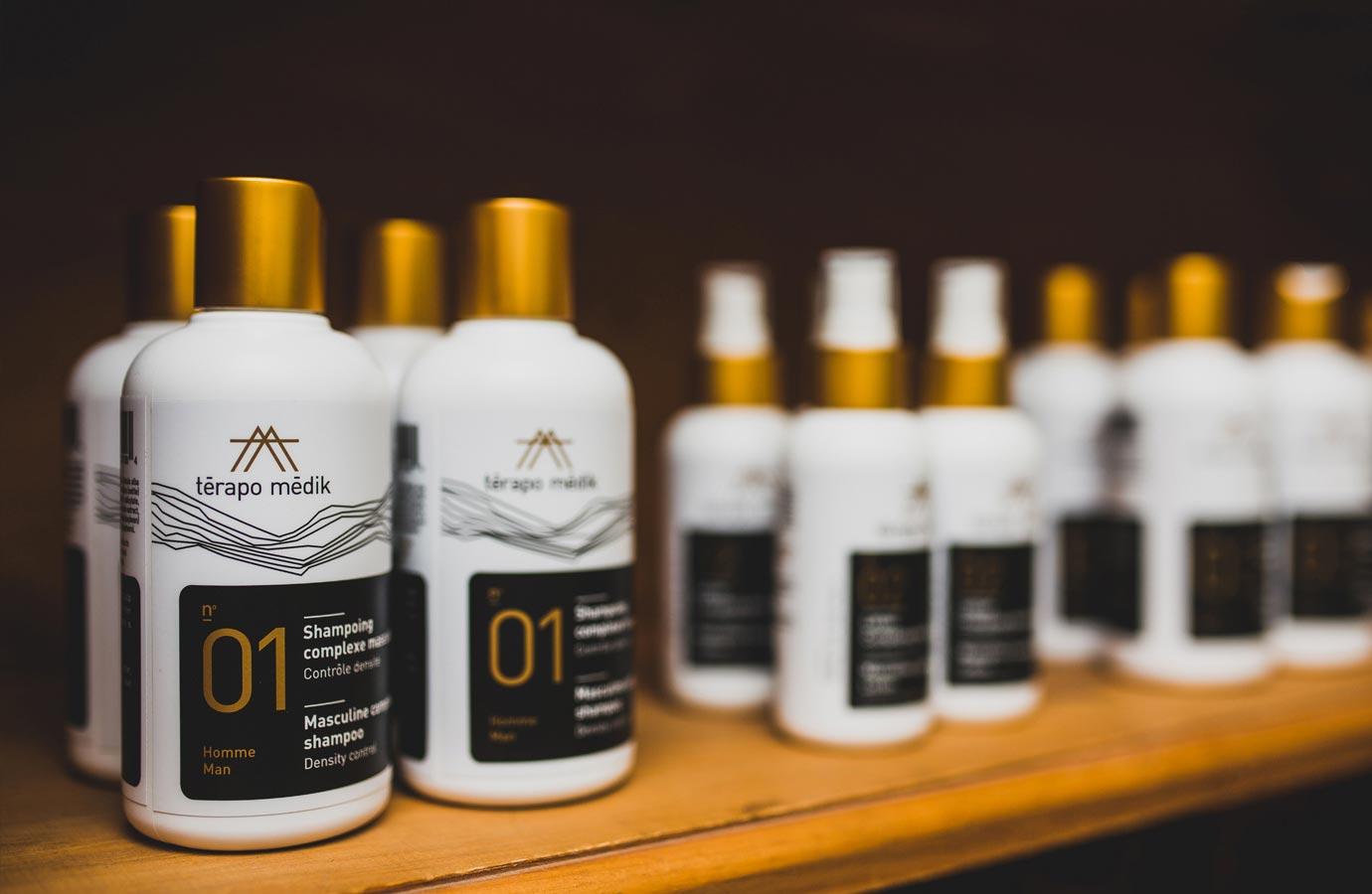 Conditionnement, bouteilles gamme homme de Laboratoire Nature