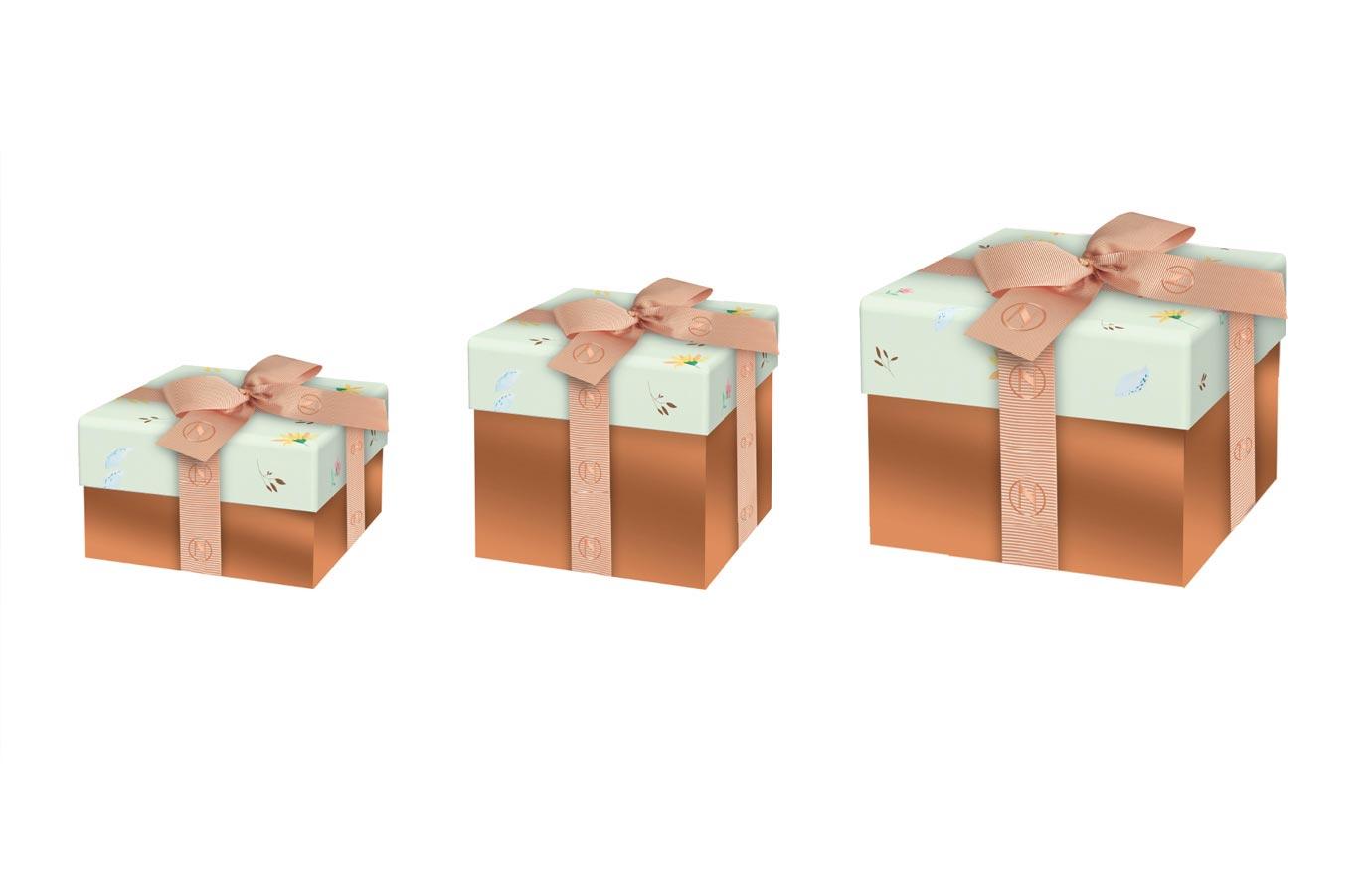 emballage cadeau, boîte carrée de Neuhaus, collection printemps