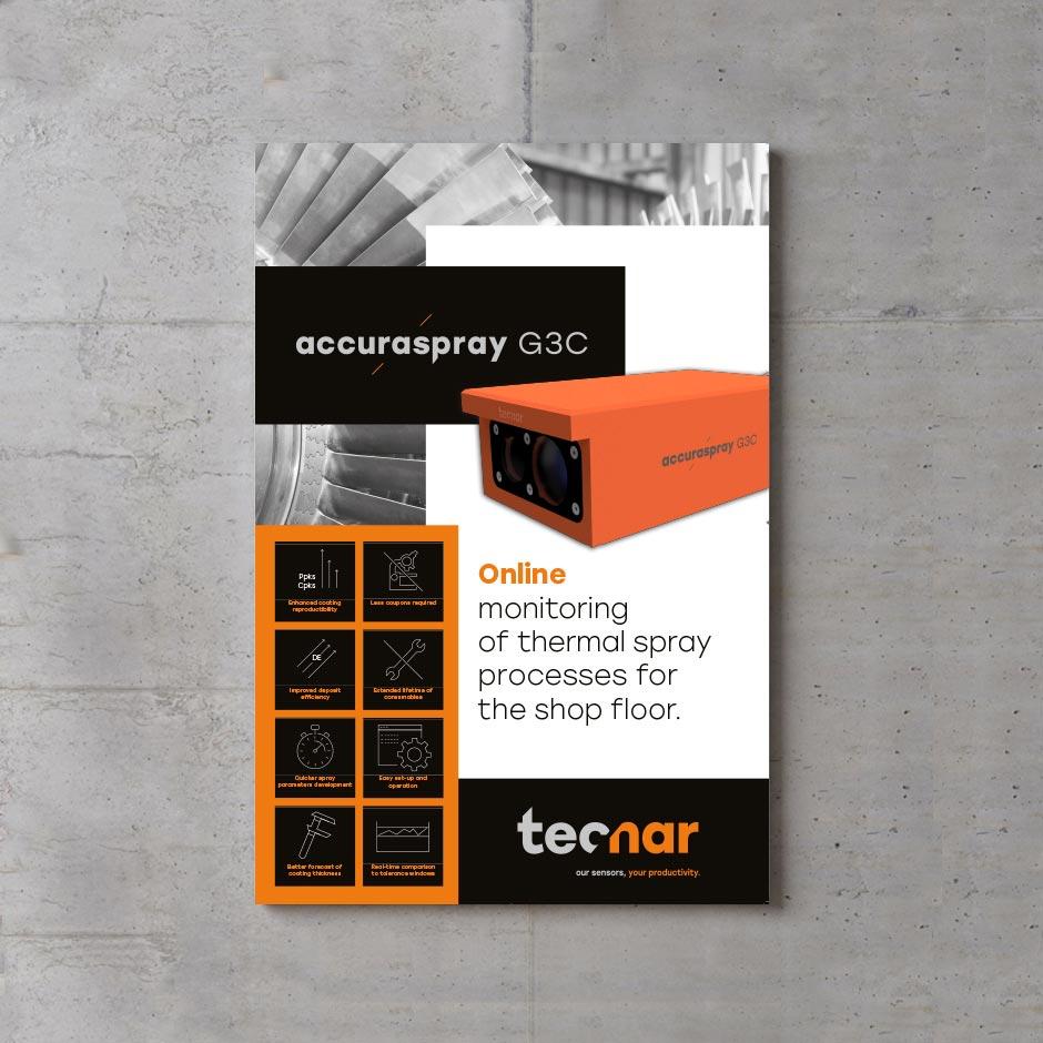 Identité, affiche pour produit Tecnar
