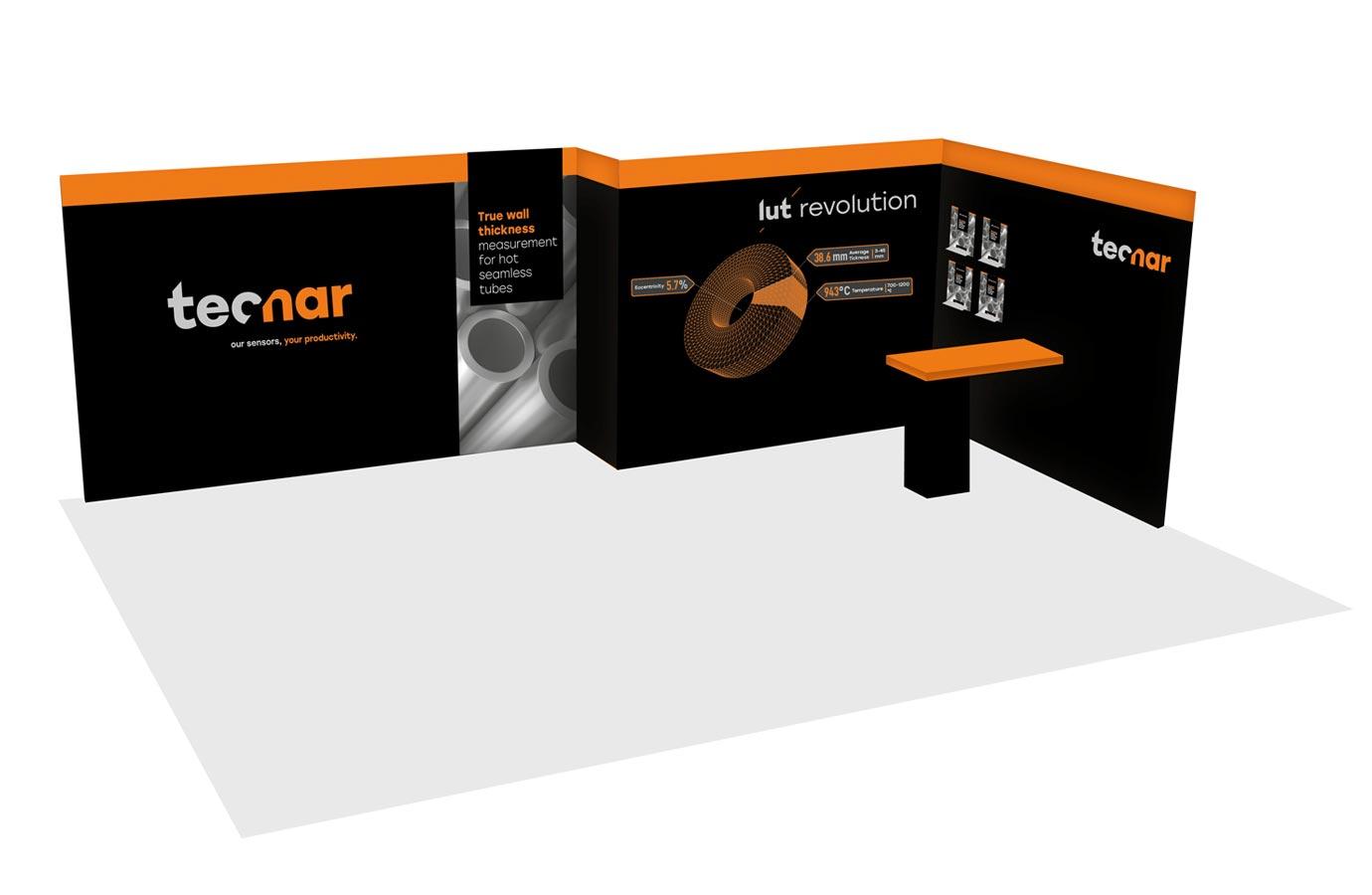 kiosque d'exposition de Tecnar