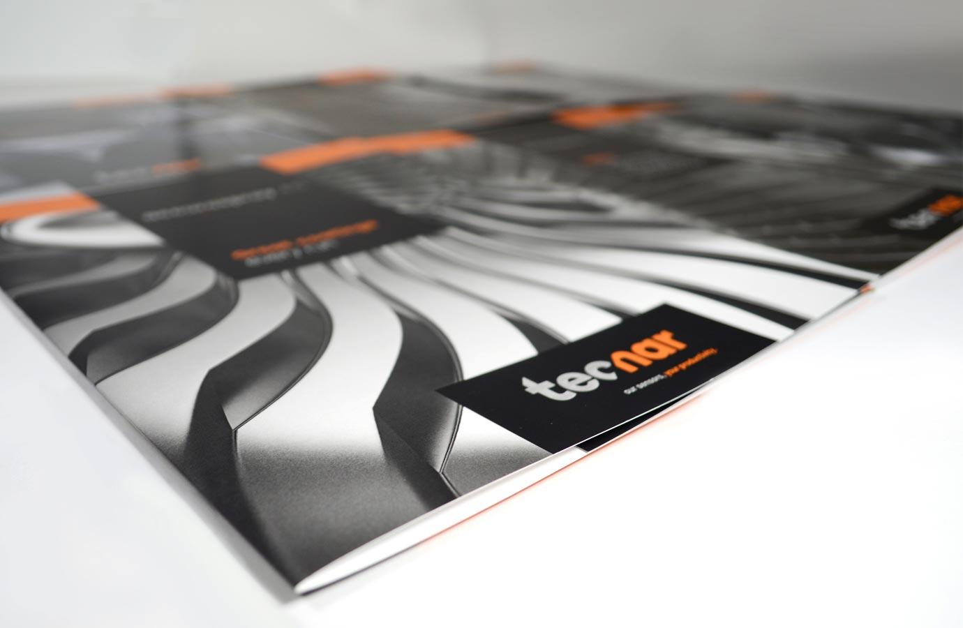 identité visuelle et matériel promotionnel pour Tecnar Automation Ltée