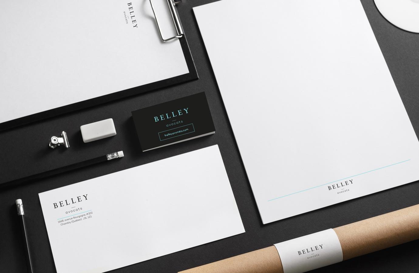 Identité, papeterie complète pour Belley Avocats