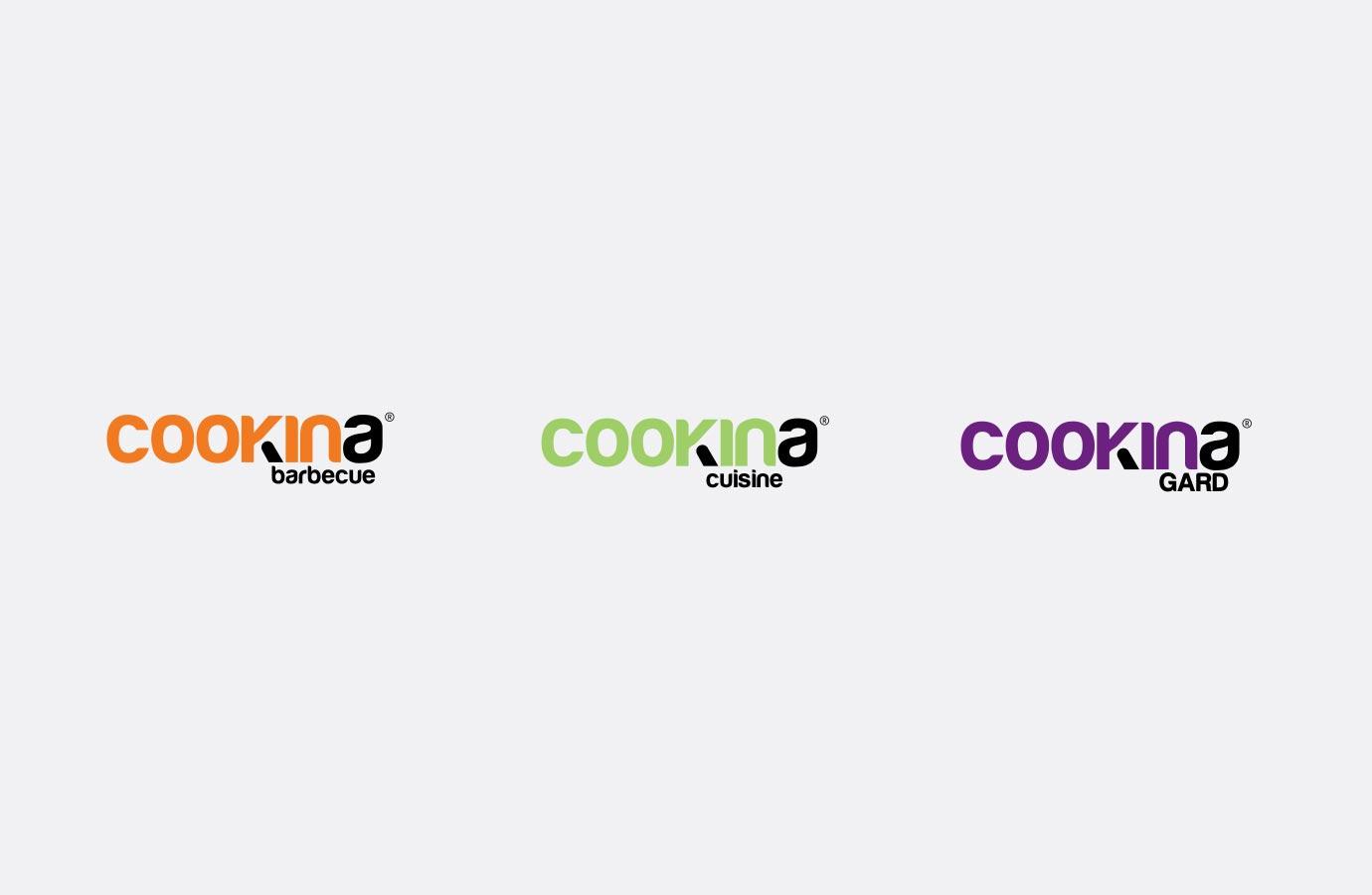 Identité, logos des différents produits offerts par Cookina