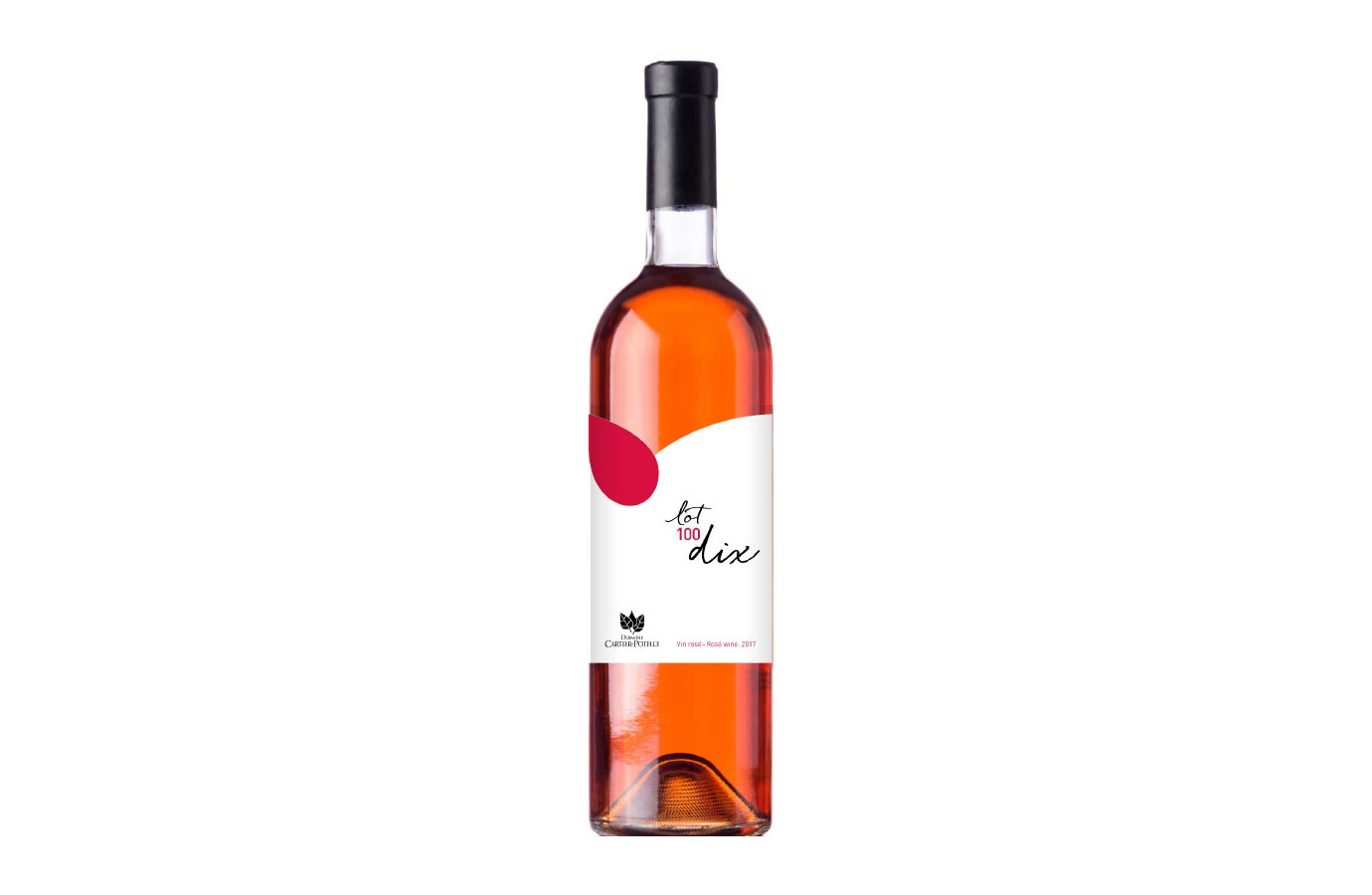 Étiquette de vin rosé Domaine Cartier-Potelle