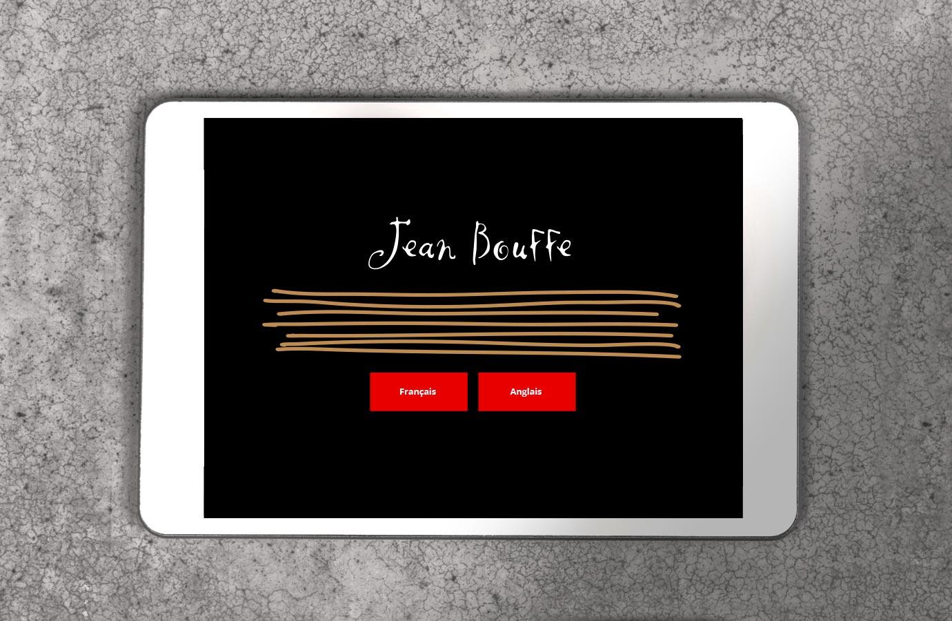 Application de commandes pour Jean Bouffe