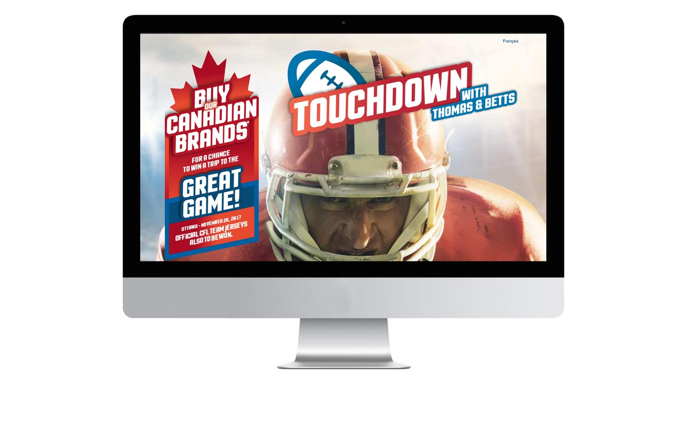 site web promotion Touchdown de Thomas & Betts