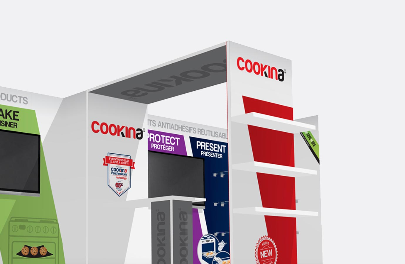 Stand d'exposition Cookina