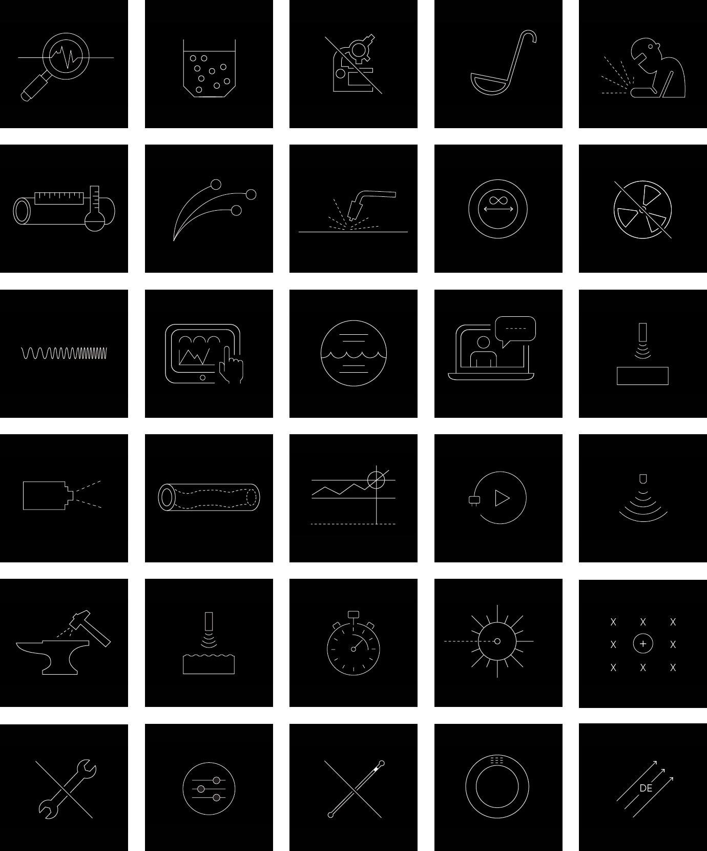 Identité, collection d'icônes pour Tecnar