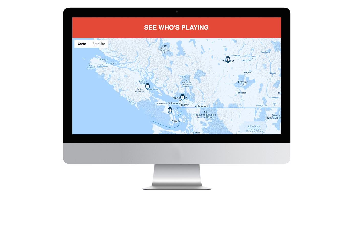 page interactive sur le site web de Thomas & Betts pour la promotion Touchdown