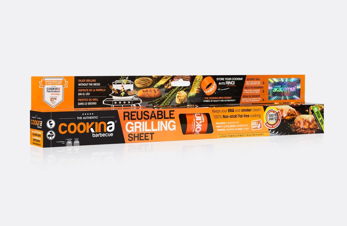 Identité, boîte de feuille de cuisson pour barbecue de Cookina