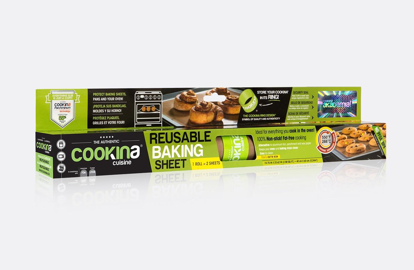 Identité, boîte de feuille de cuisson Cookina cuisine