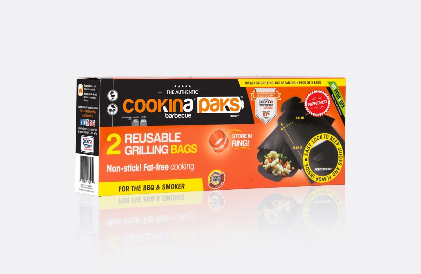 Identité, boîte pochettes de cuisson pour barbecue de Cookina