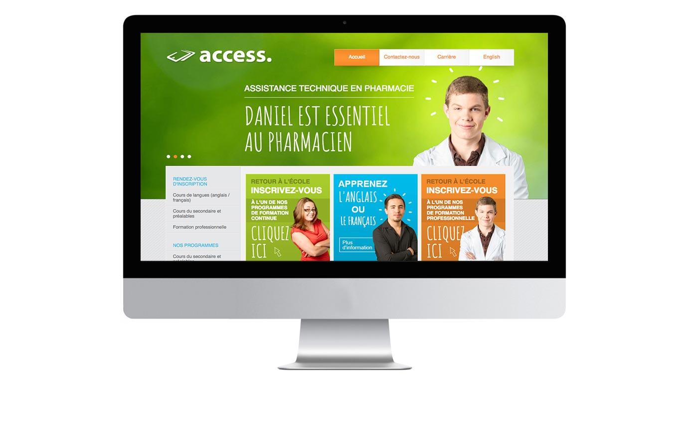Site web pour Access
