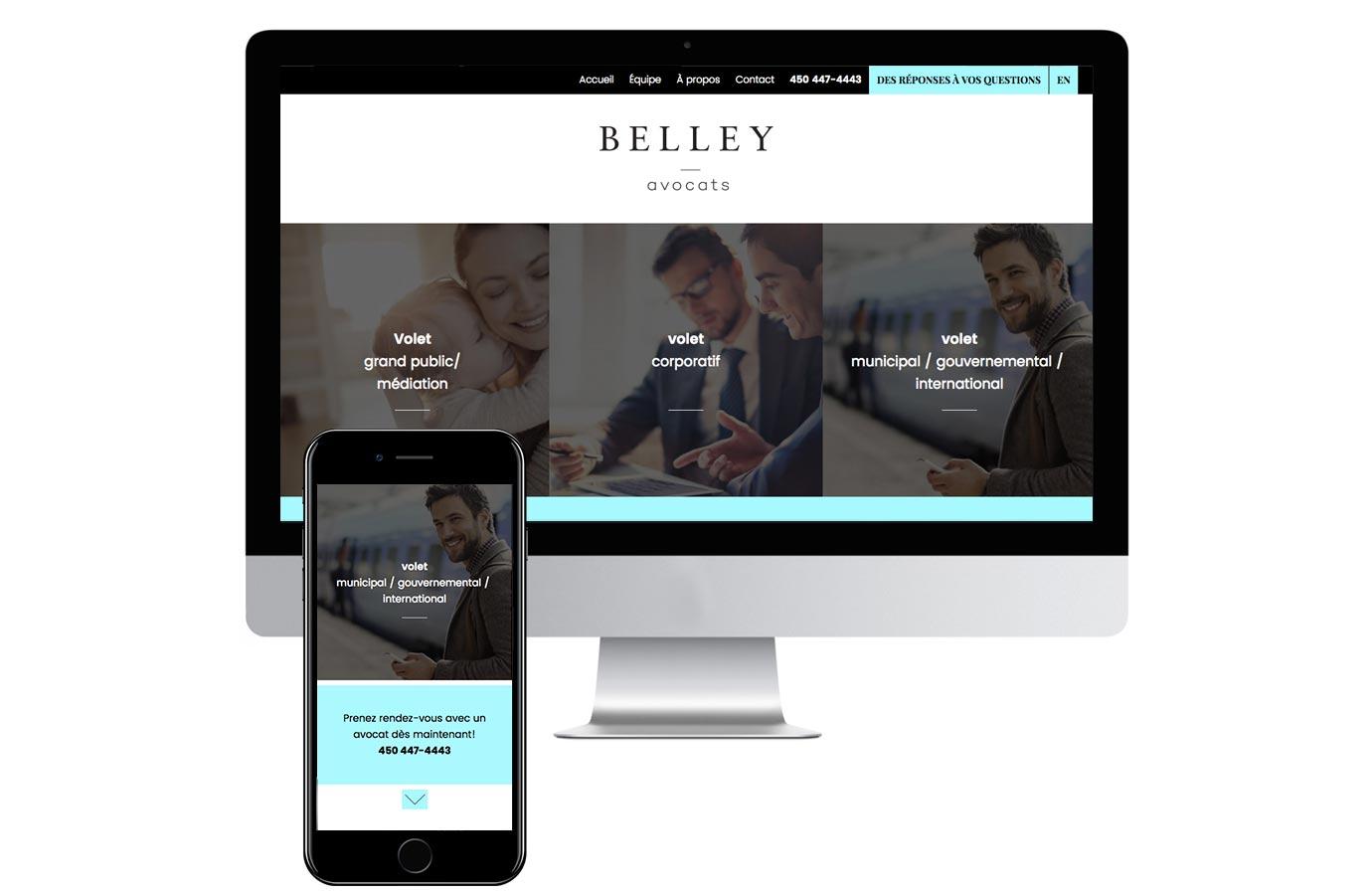 Site web de Belley Avocats