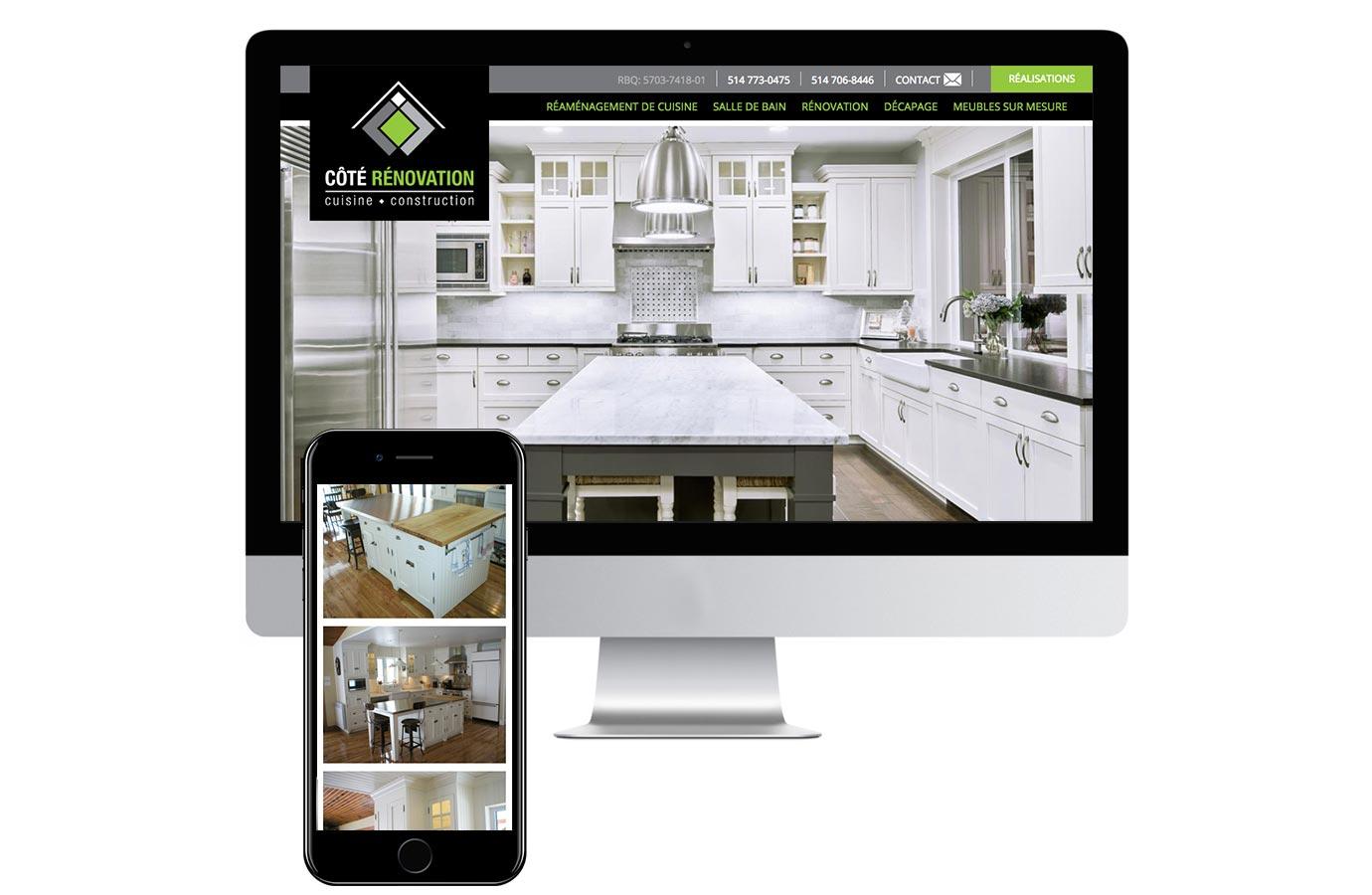 Site web pour Côté Rénovation