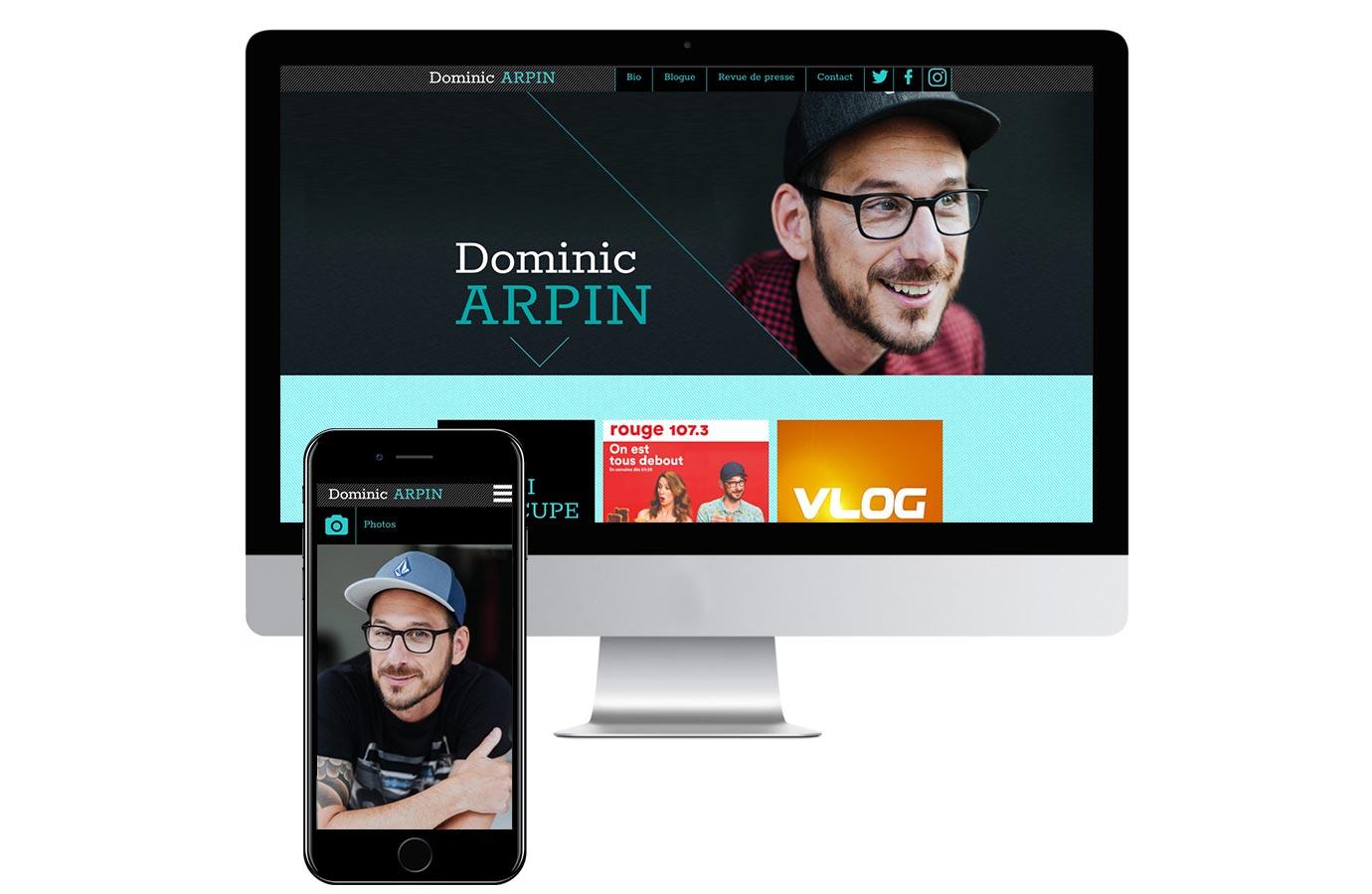 Site web de Dominic Arpin