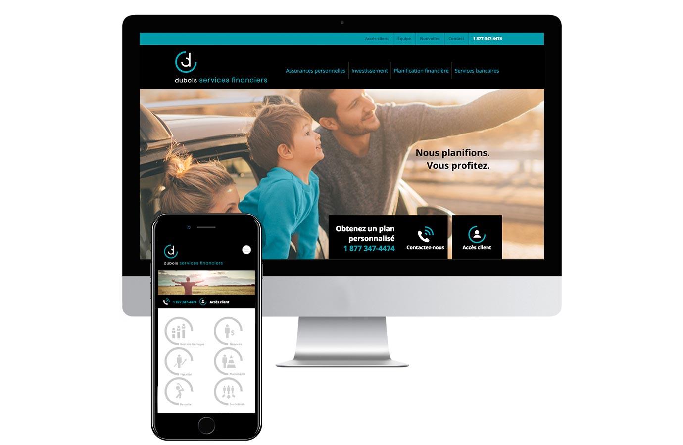 Site web Dubois services financiers