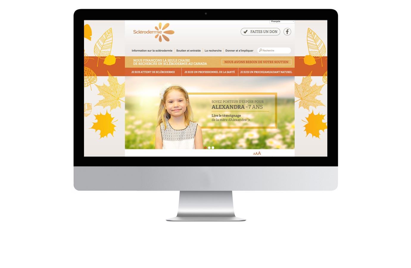 Site web pour Sclérodermie Québec